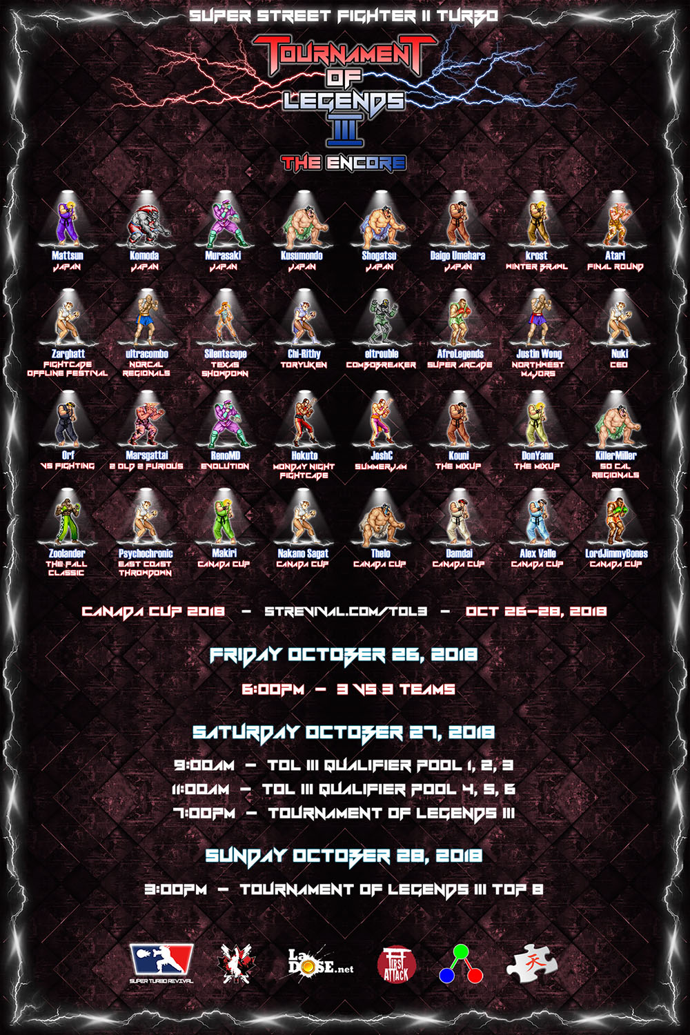 TOURNAMENT OF LEGENDS III poster